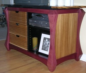 And A Real Impact Piece U2013 A Purpleheart And Zebrawood Console By Girelli  Designs